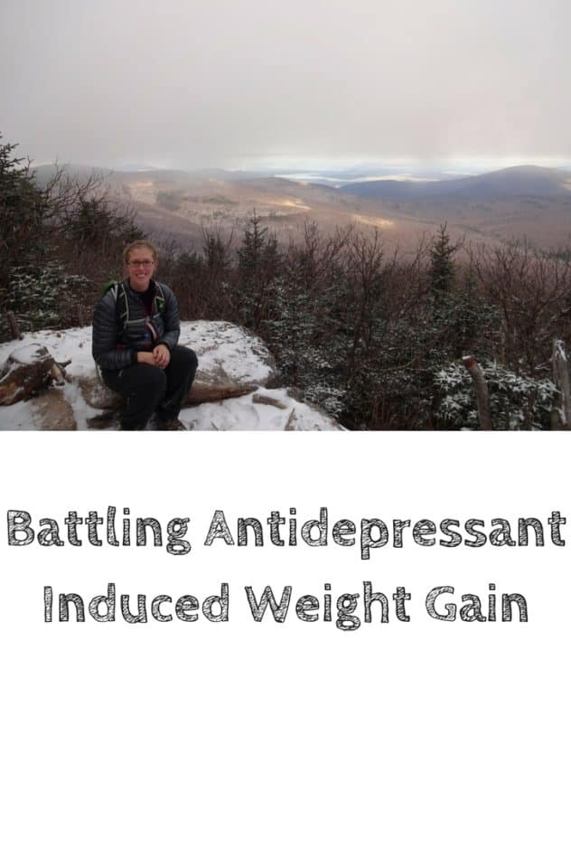 A picture of me sitting on a snow covered rock in the Catskills. It was an overcast day. This is the designated pinterest pin.