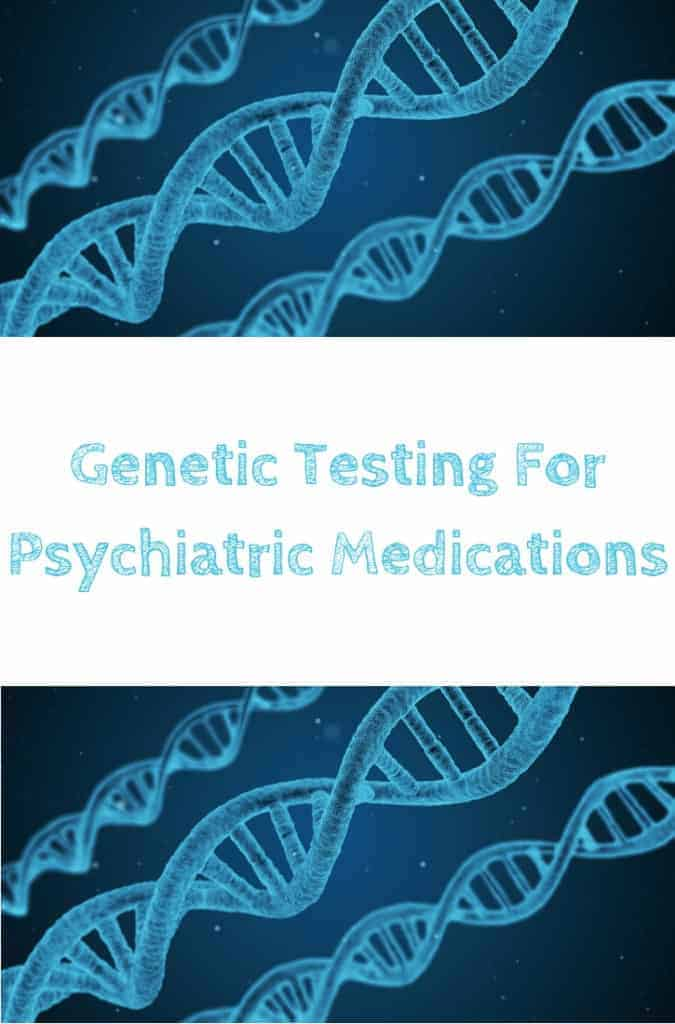 A picture of DNA which is tested for in genetic testing for psychiatric medications. This is the designated pinterest pin.
