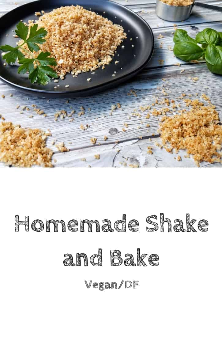 This homemade shake and bake comes together in less than 10 minutes and makes four cups! Unlike the store-bought versions, this one is free from artificial ingredients. I like to use this homemade shake and bake to coat meat, to coat vegetables, and to top casseroles or macaroni and cheese! #thepanickedfoodie #homemadeshakeandbake #healthyhomemadeshakeandbake #easyhomemadeshakeandbake #homemadeshakeandbakechicken