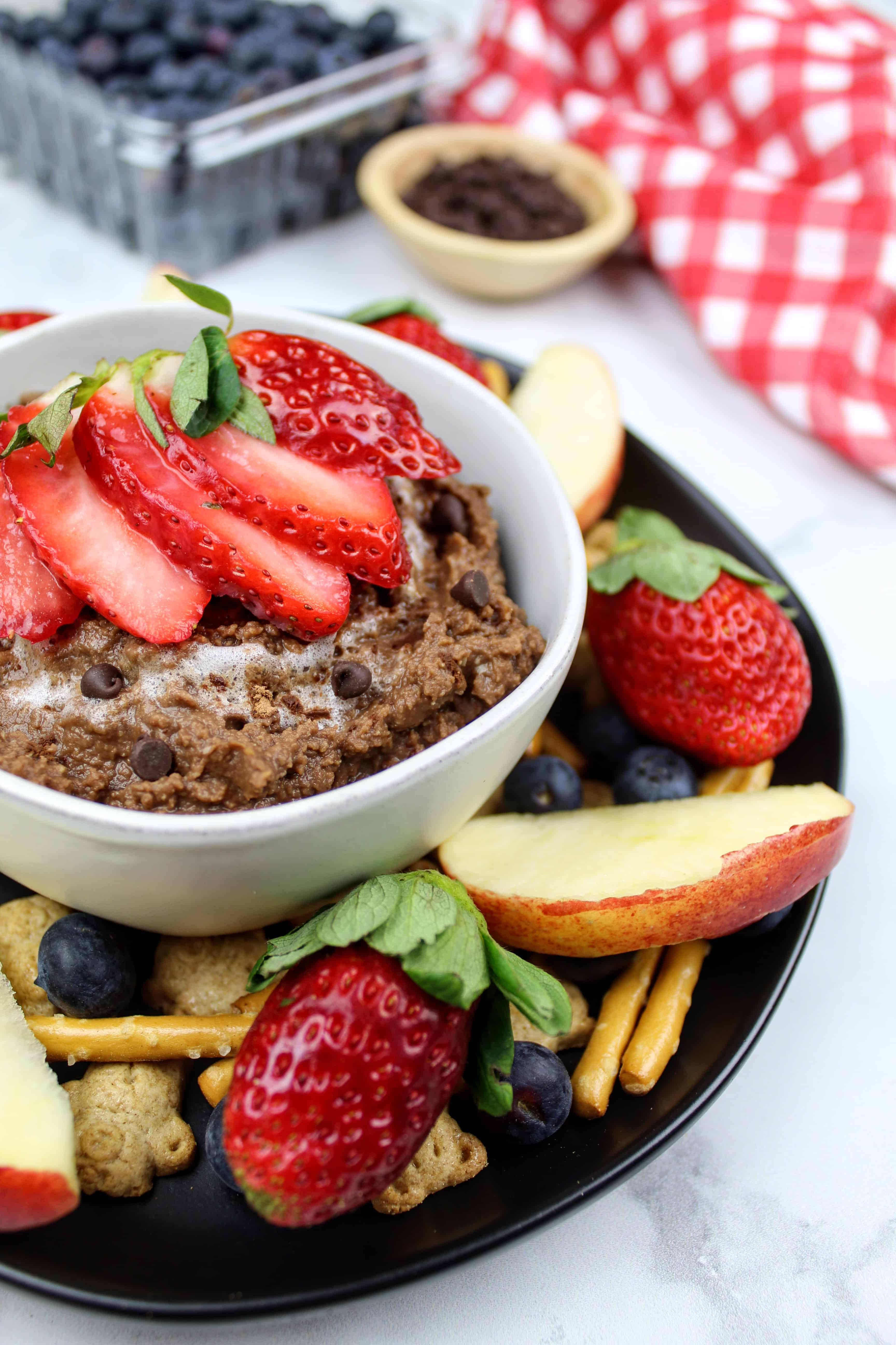 Brownie Batter Hummus {Vegan, GF, Top 8 Free}
