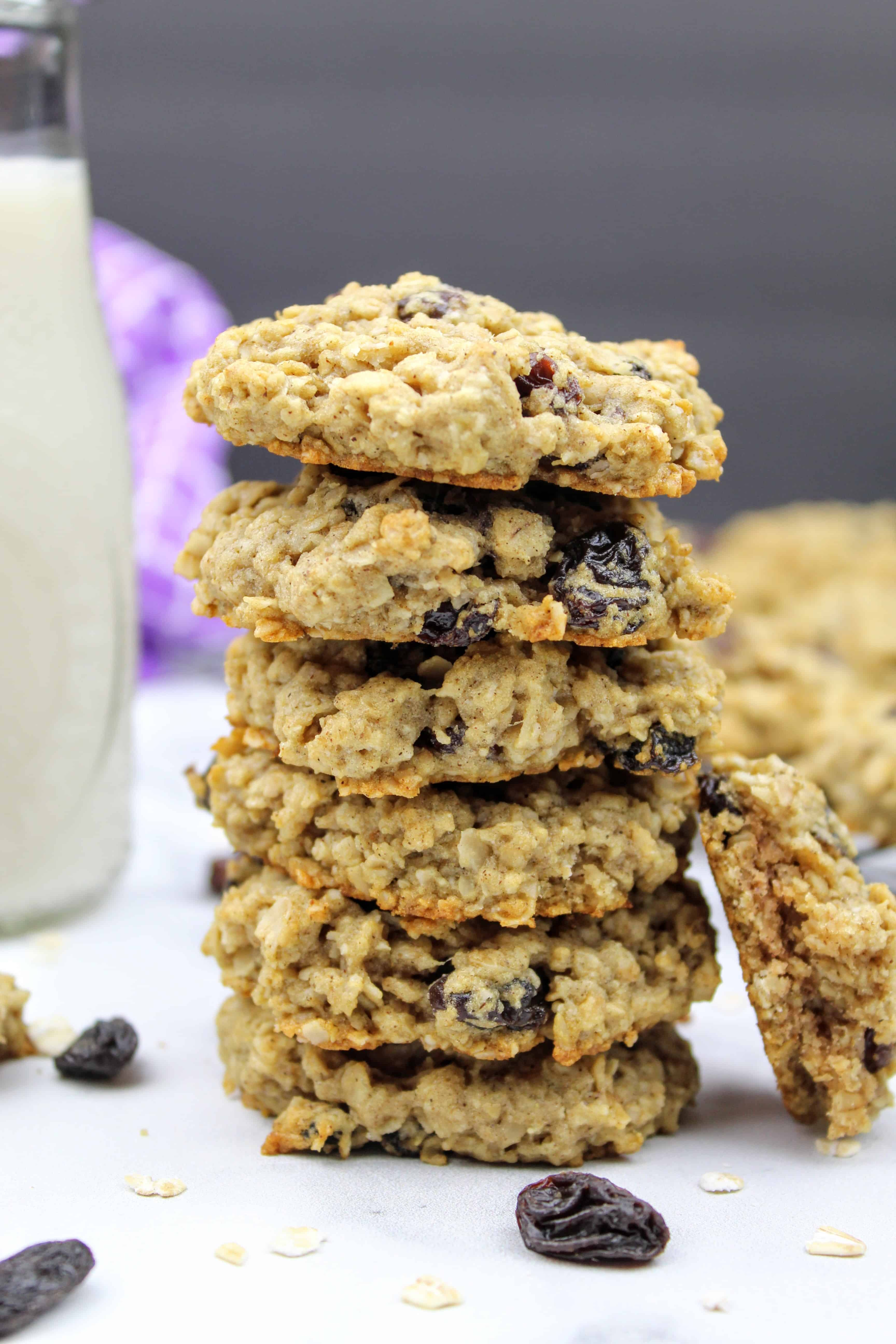 Vegan Oatmeal Raisin Cookies {Vegan, Gluten-Free}