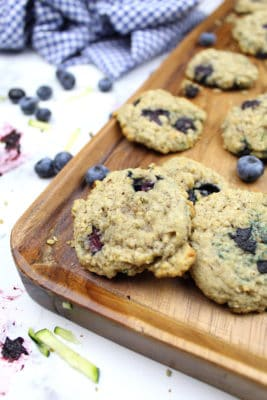 Gluten-Free Blueberry Zucchini Oatmeal Cookies